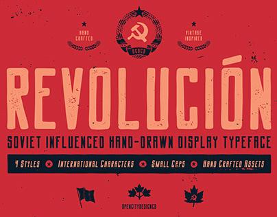 New typeface - Revolución