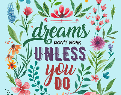 Watercolor Wall Art | Motivational Quotes