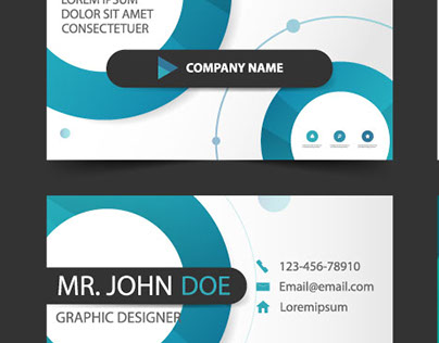 Circle concept business card design