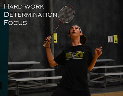 Visual Poetry with Badminton