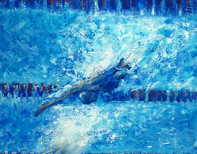 Sport paintings 2015-swim and surf