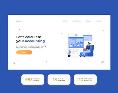 ByFinance web design landing page