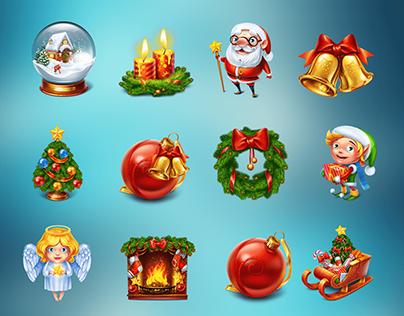 New Year Themed symbols