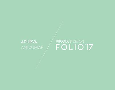 Product design folio 2017
