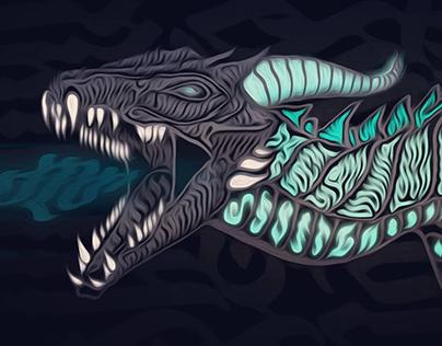 Calligraphic dragon