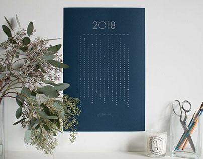 2018 Letterpress Lunar Calendar