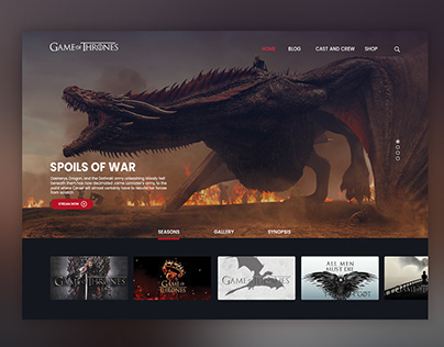 Game of Throne Landing Page Concept