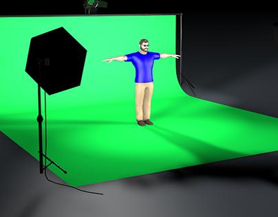 Lighting a Green Screen