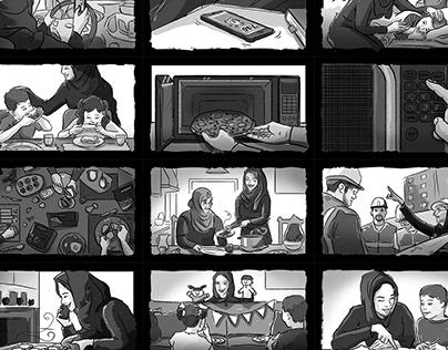 Frozen Food Storyboards