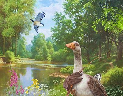 Simon and the goose