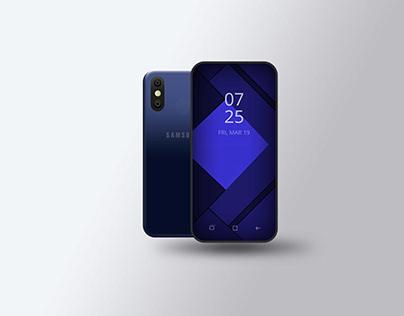 Samsung Galaxy M20 PSD Mockup