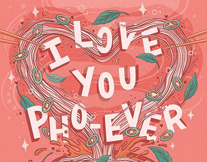 Pho Noodle Lettering & Illustration