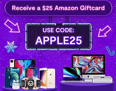Sell any Apple device and get a $25 Amazon giftcard!