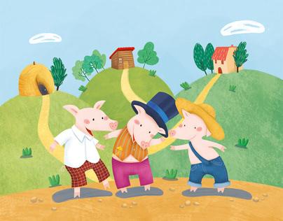 Three little pigs Ed. Schwager Book
