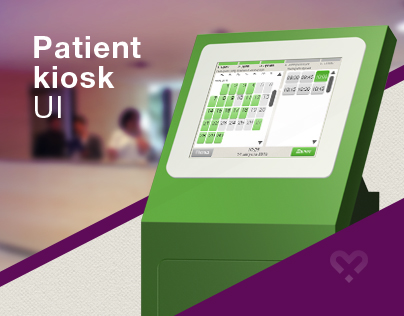 Patient kiosk Interface design for Medotrade