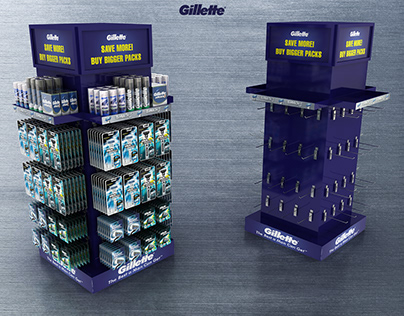 Gillette 4 Side & 2 Sided FSU Display