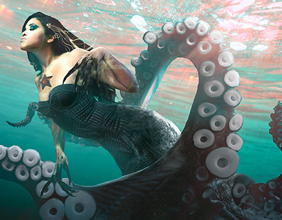 La Reina de los Mares • Video Photoshop Manipulation