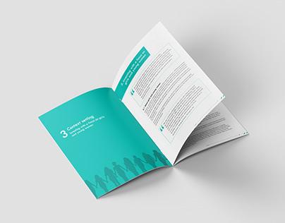 Brochure design, SPRING accelerator