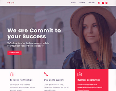 8b | Consulting Website Template!