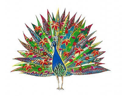 Poetic peacock