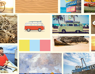 Moodboard for a new beach bar