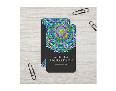 Floral Mandala Ornament Business Card