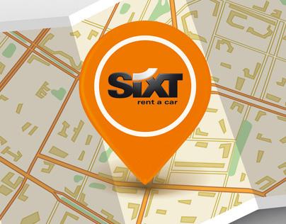 Буклет карта Sixt