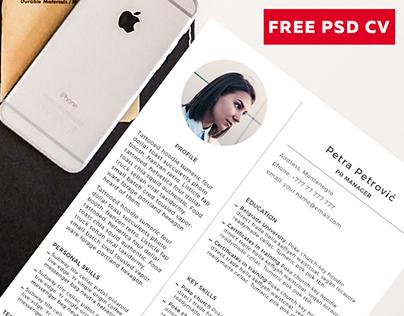 FREE PSD CV TEMPLATE