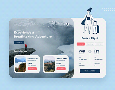 Air Ticket Booking Design