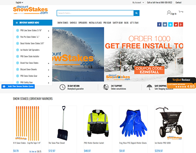 Magento 2 store - Discount Snow Stakes Driveway Markers
