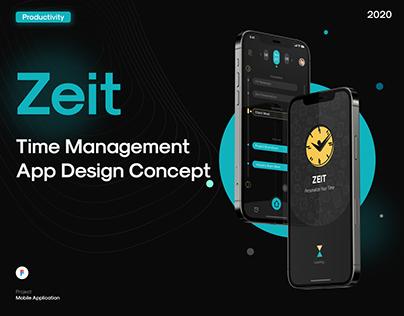 Zeit - Time Management Application Concept
