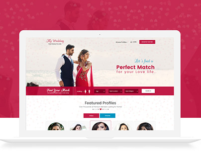 UX/UI Design For Matrimonial
