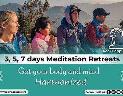 Meditation Retreats - Graphic Design
