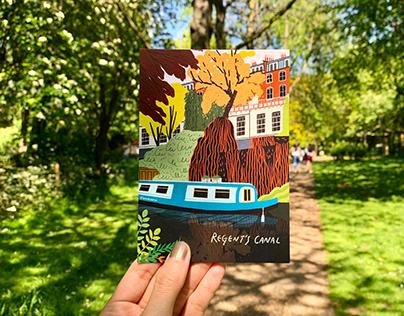 Urban Walking Postcard