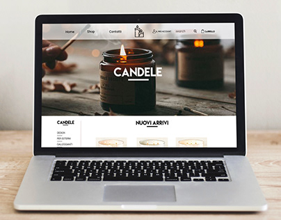 Exercise Landing Page for Candles Ecommerce