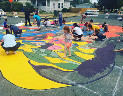Paint the Street 2017 Community Mural