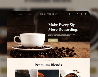 The Coffee Shop landing page concept