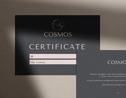 Фирменный стиль для студии Cosmos