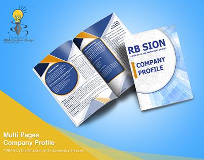multi pages company profile