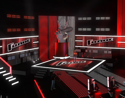 TV Set Design. Voice Russia 2012
