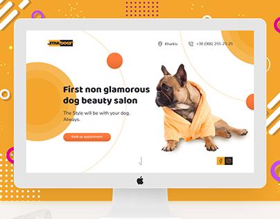 "Landing page | Dog grooming & beaty salon ""Star Dogs"""