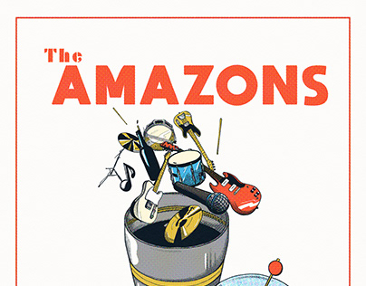 The Boileroom Guildford Gig Poster // The Amazons