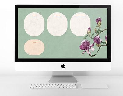Ilustración botánica para fondo de iMac