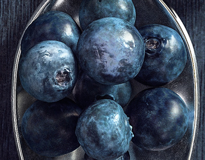 Sweet Blueberries / 3d