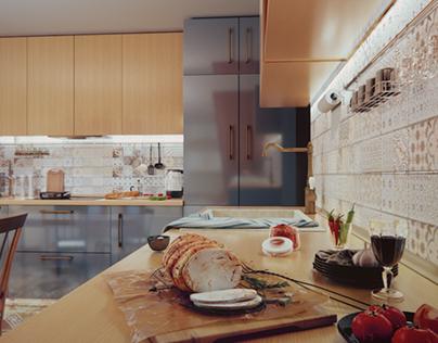 Проект интерьера кухни для молодой семьи в Иркутске