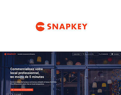 A logo and a brand identity for SNAPKEY