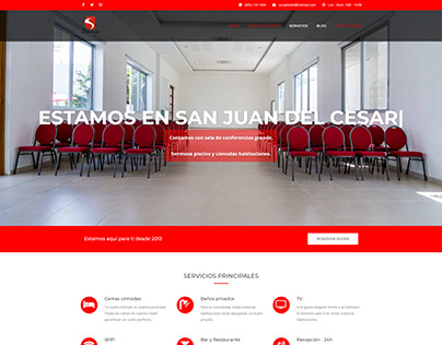 Website for a hotel in Colombia