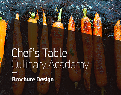 Chef's Table Culinary Academy | Brochure Design