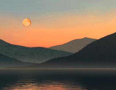 Smoky Moonrise