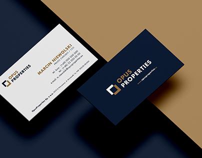 Opus properties - logo, visual identification, website